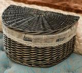 Cesta utilitaria antigua hecha a mano del sauce de cesta de mimbre (BC-ST1253)