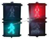 Roter statischer Mann-+ Grün-dynamischer Mann-Fußgängerampel
