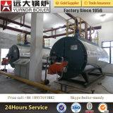高性能6ton/H 600000kg水平オイルのガス燃焼の蒸気ボイラ