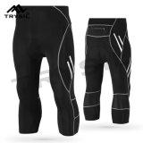 Pantaloni di riciclaggio compressi pantaloni stretti degli uomini per ginnastica