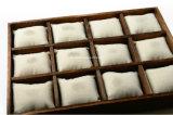 Logotipo personalizado de madera carbonizada Mostrar bandeja para Pulsera Collar