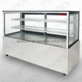 Série de mercado Refrigerated Bakery Case Cooler Stainless