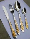 Vaisselle plate chaude d'or d'acier inoxydable de vente réglée avec le prix bas et la qualité