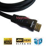 Il più nuovo cavo delle coperture HDMI del metallo di alta risoluzione 4k*2k