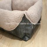 최고 연약한 온난한 짧은 견면 벨벳 애완견 고양이 침대