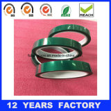 Nastro adesivo del silicone verde a temperatura elevata del poliestere dell'animale domestico del nastro adesivo dell'isolamento termico,