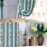 Tissu de rideau antidérapant Chenille Jacquard style moderne