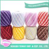 Preço tricotando manualmente por atacado do fio de algodão 20s do moinho de giro