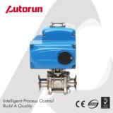 Parties électriques chinoises de robinet à tournant sphérique d'acier inoxydable de connexion de bride de fournisseur de Wenzhou 3