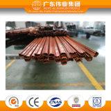 Transfert de bois en aluminium Chemin de fenêtre perlage Profil extrudé