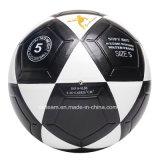 Robuste Deflatable en cuir noir et blanc le football