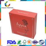 Boîte d'emballage cosmétique élégante en forme carrée avec motif UV personnalisé