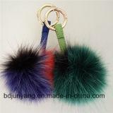 Sfera falsa della pelliccia dei prodotti di nuovo anno per il pendente del sacchetto