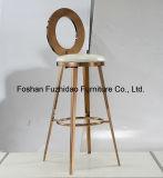 Cojín de la PU al por mayor baratas de acero inoxidable Mesa y silla de la barra