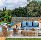 2017 novo Design Hotel Wicker Patio Garden Furniture Sofa Set Usando Outdoor & Garden & Patio (YT1050)