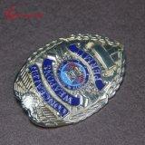 カスタム軍の卸し売り金属のエナメルの合金の警察は記章を付ける