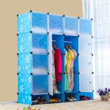 Sistemas baratos modernos simples plásticos do armazenamento dos Wardrobes do quarto