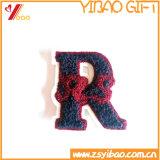 布の最下の人のジャケットの刺繍パッチ、編まれたラベルの刺繍(YBeb408)のPacth
