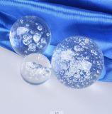 装飾のためのクリスタルグラスのゴルフ形のゆとりの球