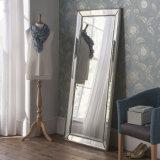 Sans cadre vénitien moderne grand mur décoratif miroir de plancher