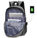 Cor opcional Mochila Backpack com interface USB bolsa escolar, Laptop bag bolsa mochila USB