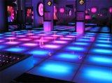 10mm de espesor de vidrio templado teñido de LED de pista de baile de discoteca parte