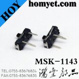 type contact coulissant (MSK-1143S) de 2pin SMD
