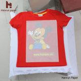 Couche de revêtement en PU, coupe facile T-shirt foncé T-shirt pour papier 100% coton