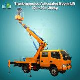 200kg 10m24mの高揚力手段のトラックはブームの上昇を取付けた