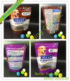 Zipper levantarse clara bolsa de embalaje de alimentos para mascotas