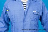 Workwear longo da segurança da luva do poliéster 35%Cotton de 65% total com reflexivo (BLY1023)