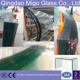 vidrio Tempered curvado 8-12m m de la seguridad con los bordes Polished
