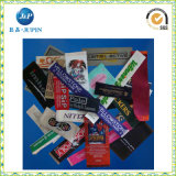 Etiqueta tecida damasco personalizada alta qualidade da roupa do cetim (JP-CL132)