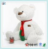 Giocattolo molle bianco Huggable dell'orso di seduta della peluche dell'orso di formato enorme per i capretti