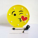 Большой Emoji Kiss LED таблица ночное освещение