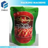 Pochette liquide rotatif de l'emballage de la machine pour le ketchup