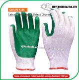 Безопасности ладони латекса K-94 100g/Pair Polycotton перчатки застрявшей Coated работая