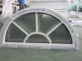 La Chine UPVC en vinyle blanc demi-cercle de la conception de la fenêtre d'Arche Grill