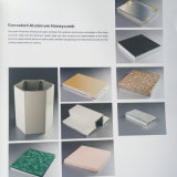 Классическая серая алюминиевая система фасада панелей сандвича сота