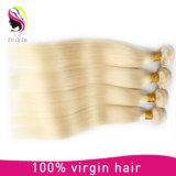 Extensão loura reta Mongolian do cabelo do Virgin do cabelo humano de 100%