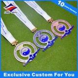 Médaille faite sur commande de marathon en métal avec le placage de bronze d'argent d'or