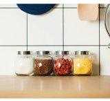 Grau alimentício Mini-tanque de armazenagem seladas de vidro com tampa metálica