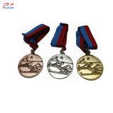 Personalizar el logotipo de dibujos animados de la medalla de metal patrón creativo