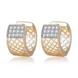 Comercio al por mayor moda Simple CZ Stud Earrings para mujeres
