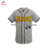 La stampa calda di sublimazione degli abiti sportivi di vendita di Healong abbottona il baseball Jersey
