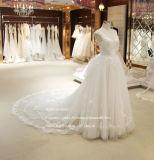 Guarnição Aoliweiya Lace Ilusão Dimond vestido de noiva branco