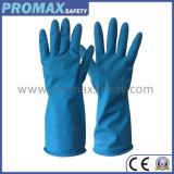 DIP 45g Flocked водоустойчивые перчатки латекса домочадца природного каучука