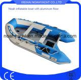 Bote de goma inflables barcos con suelo de aluminio