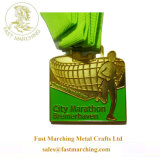 Kidsのための工場Price Cheap Finisher Medallion Green Ribbon Medals