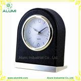 Hotel PU Capa de couro Relógio de Alarme de Desktop